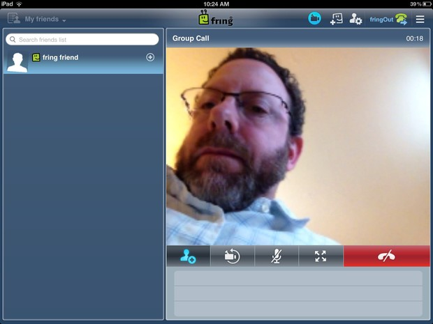 fring group call screen