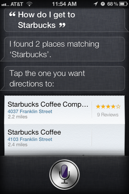 How to get directions to a specific place with Siri