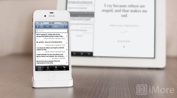 Quotebook for iPhone and iPad review