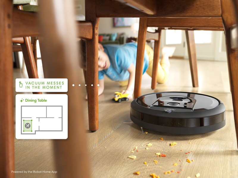 iRobot Roomba i7 cleaning under table