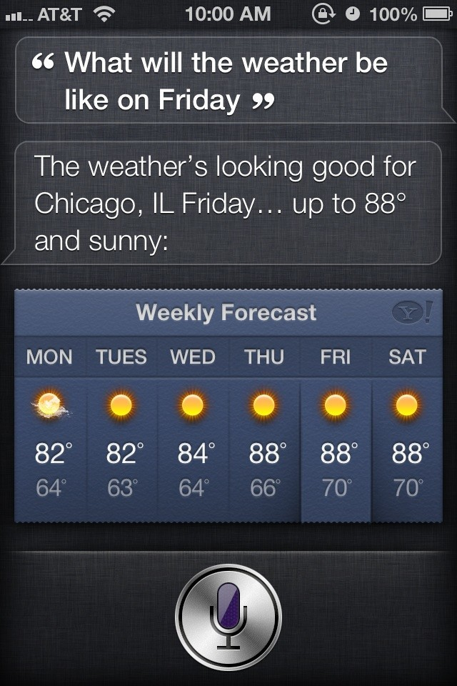 How to check the forecast with Siri