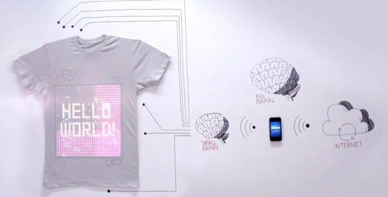 tShirtOS is the first iPhone controlled t-shirt with integrated washable display