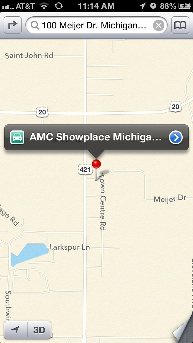 siri map theaters