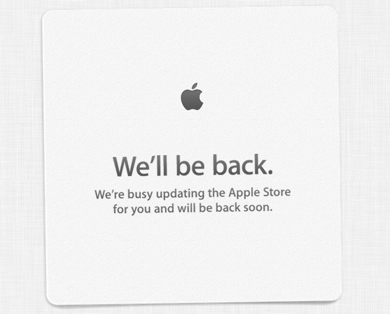 Apple Store down ahead of today's event
