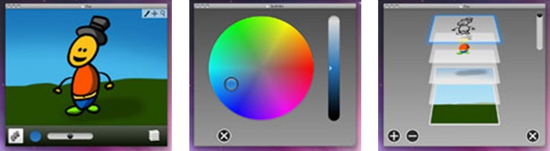 Scribbles picture, color, and layer interfaces
