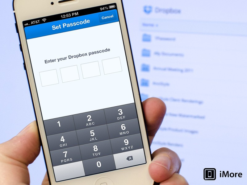 How to add extra security to Dropbox for iPhone and iPad by adding a passcode lock