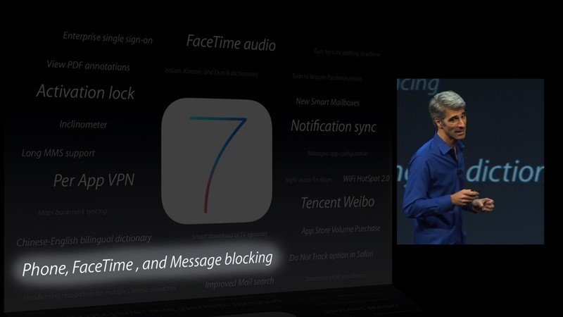 iOS 7 preview: Phone, FaceTime, and Messages blocking