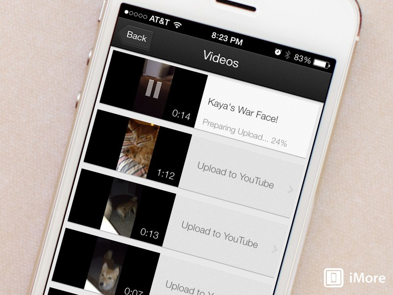 How to upload a video to your YouTube account with YouTube Capture for iPhone and iPad