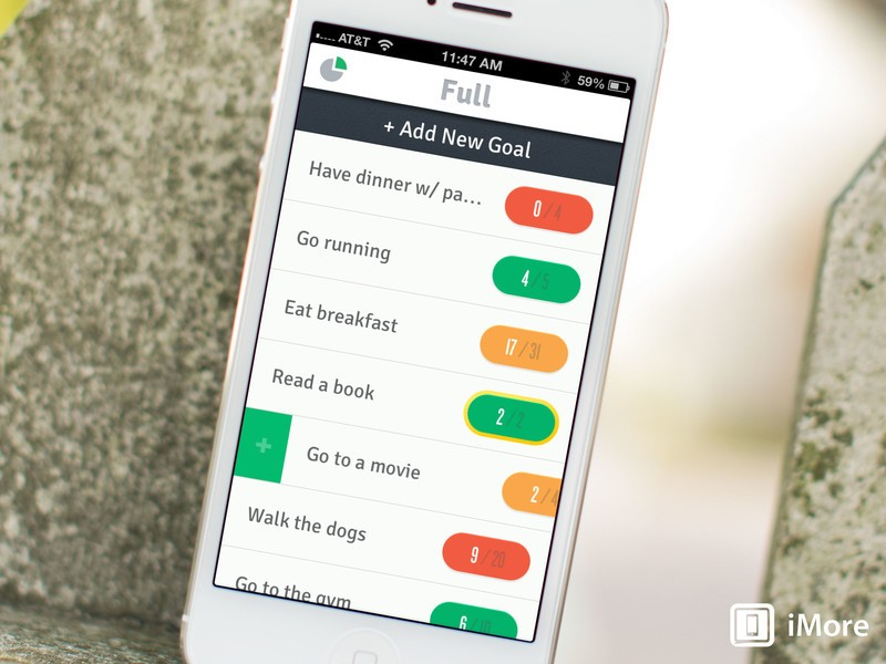 Full for iPhone is a beautiful way to track goals and live life to the fullest