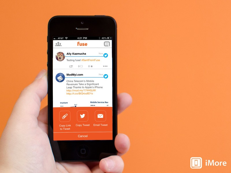 Fuse for iPhone manages your Facebook, Twitter, Instagram, and LinkedIn accounts all in one place