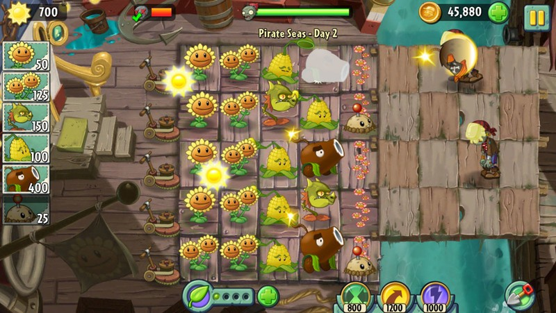 Feed a plant plant food to to get an instant attack