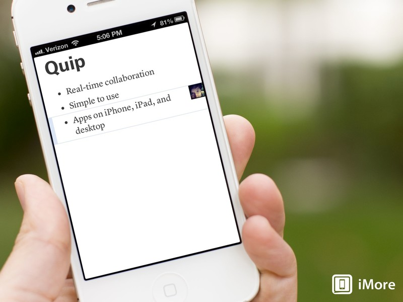 Quip lets you collaborate on documents in real time on iPhone, iPad, and the web