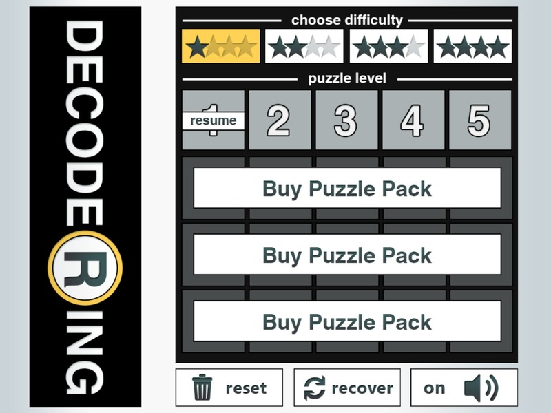 Decoder Ring Gold for iPad