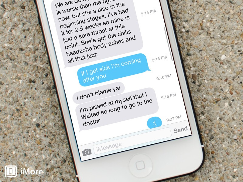 How to view timestamps for individual texts and iMessages in iOS 7