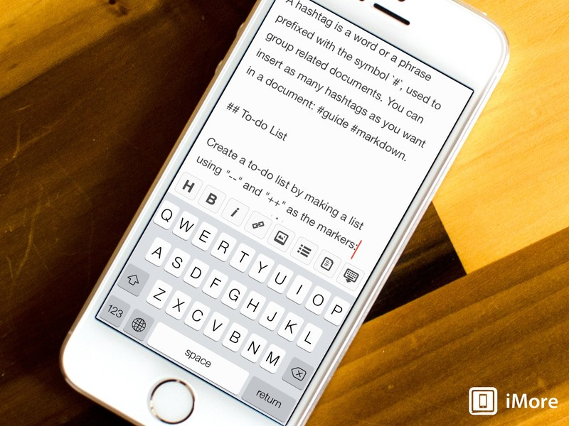1Writer for iOS: The Markdown editor for those who want support for third party apps