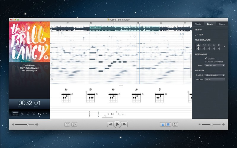 Capo 3 music transcription software adds auto chord and beat detection, more