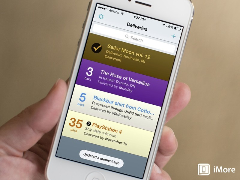 Delivery Status Touch gets iOS 7 interface, background updates, and more
