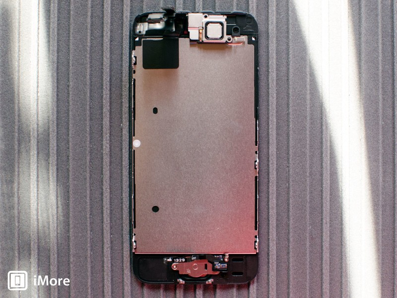The back side of the iPhone 5s display assembly