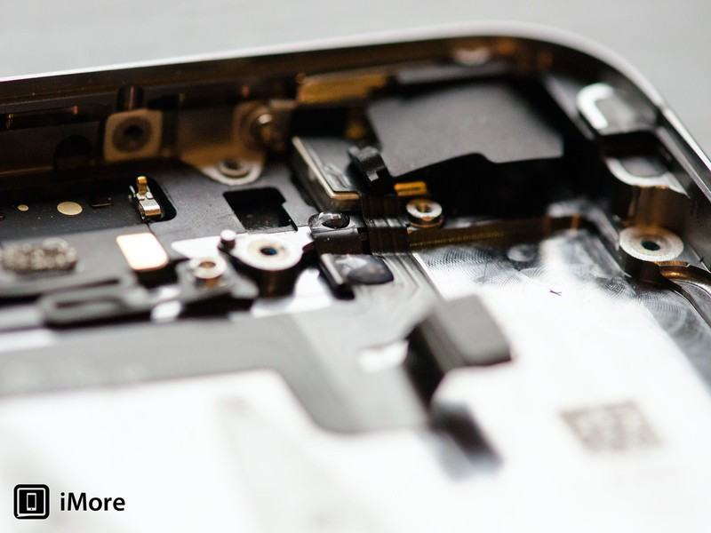 The top right of the iPhone 5s where the rear facing camera sits