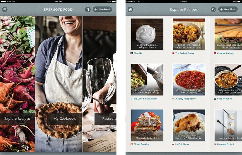 Best recipe and cooking apps for iPad: Evernote Food