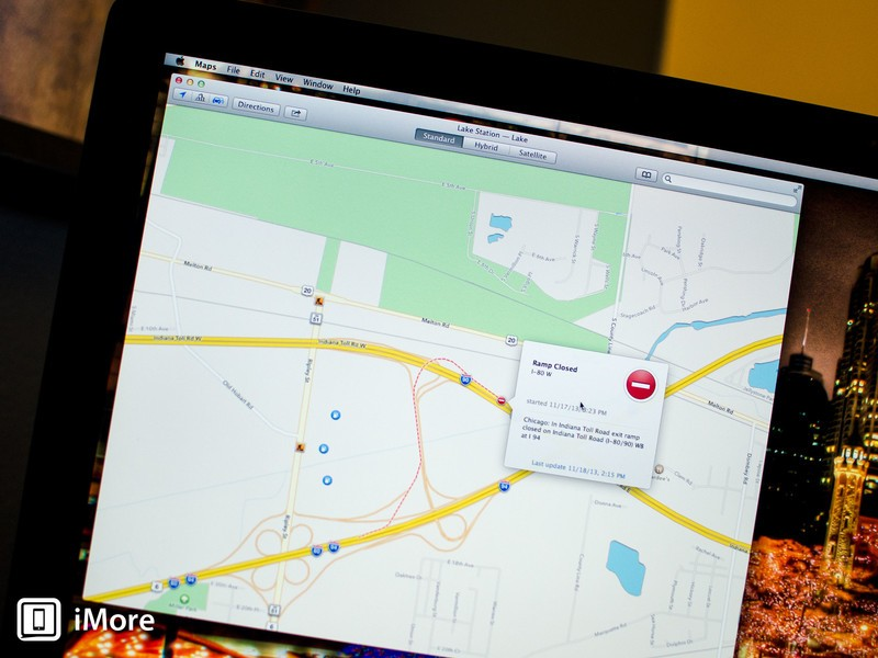 How to get real time traffic information with Maps in OS X Mavericks