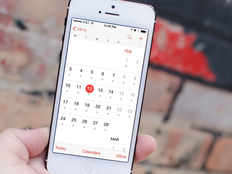 Weekly Calendar View For Iphone Scrollable : How to set the calendar s start day of week on iphone