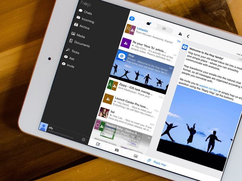 Alternate email client Hop makes its way to the iPad, adds multiple account support