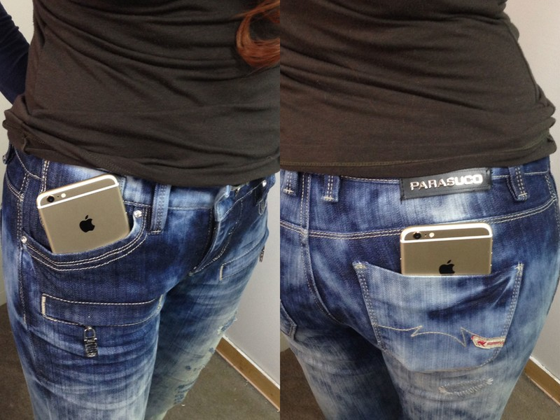 iPhone 6 Plus skinny — and not so skinny — jeans test. Will it pocket?!