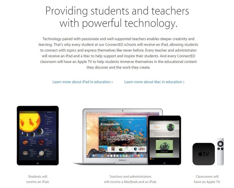 Apple donates iPads, MacBooks to 114 schools in 29 states for ConnectED education initiative
