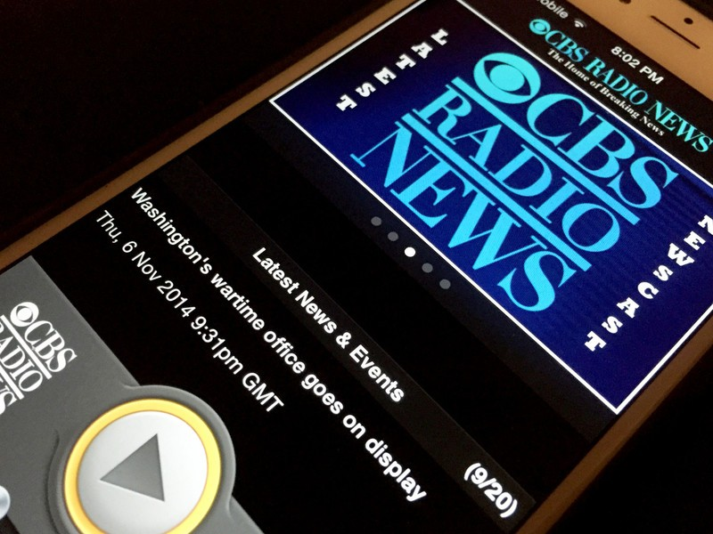 CBS Radio News grabs update, brings CarPlay support