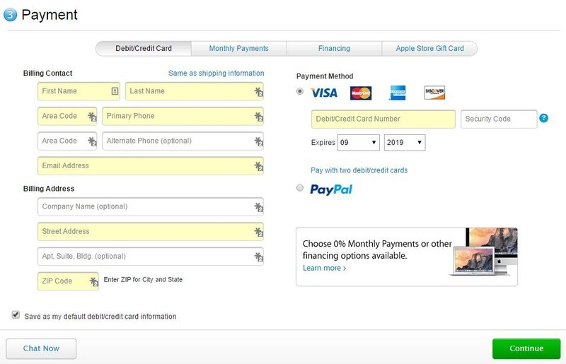 Apple online store adds PayPal payment option