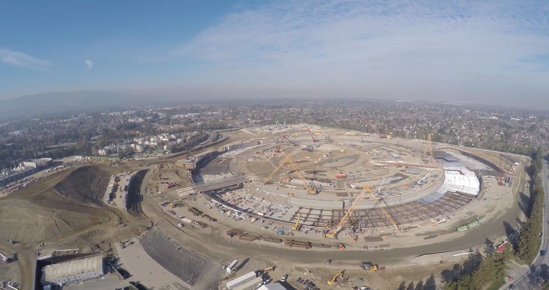 Apple's Campus 2 is being built from the remains of a former HP campus, literally