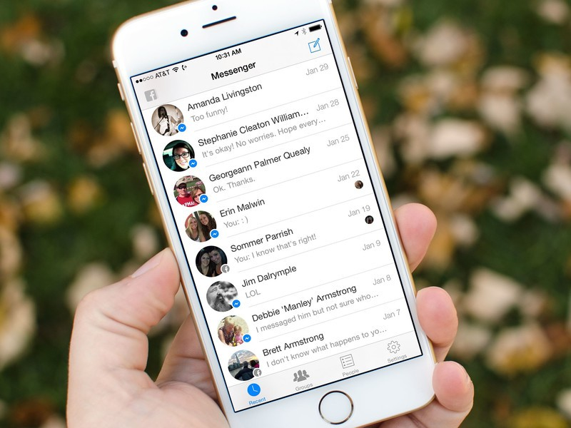 how to delete facebook messenger messages on iphone 6