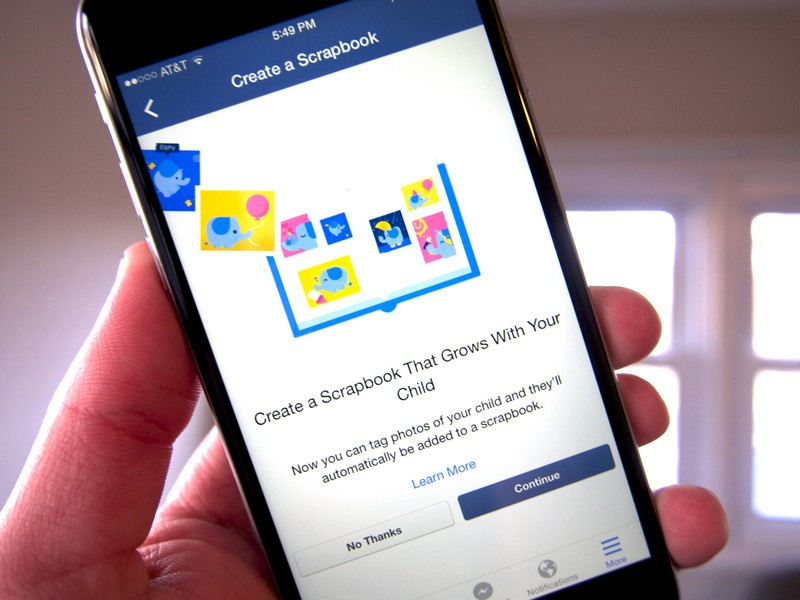 Facebook's 'Scrapbooks' feature helps parents organize pictures of their kids