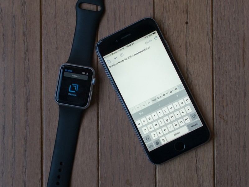 Drafts adds new Apple Watch complications, keyboard ...