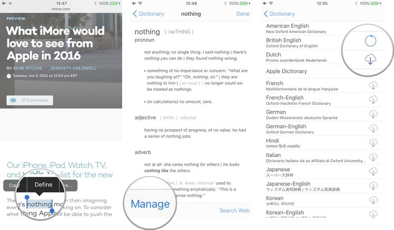 How to add and remove dictionaries on iPhone and iPad | iMore