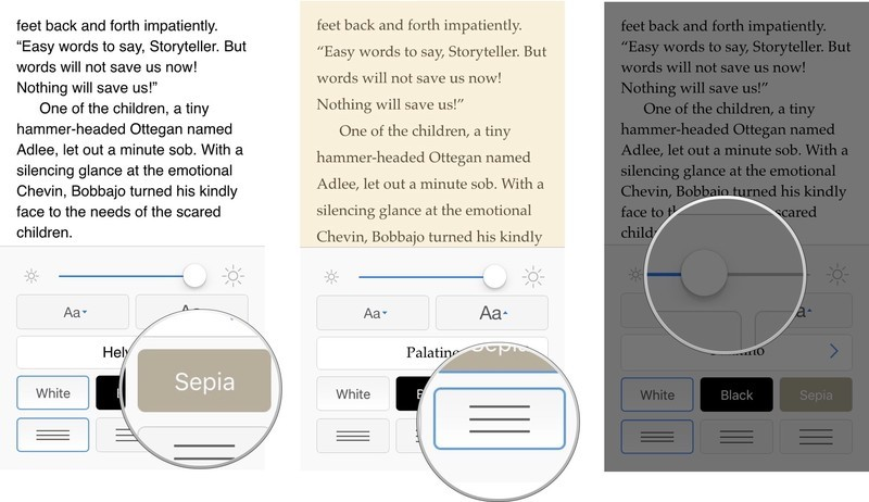 How to customize reading options in Kindle for iPhone and