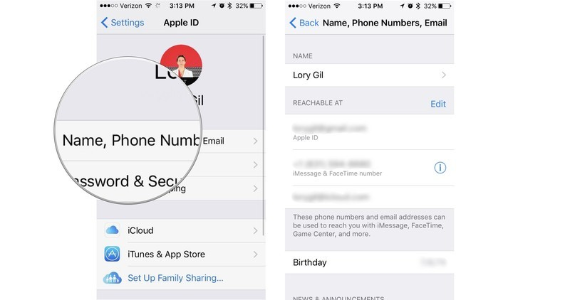 change security questions on iphone