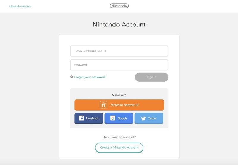 Link Nintendo Network ID to Nintendo Account by logging in to your Nintendo Account