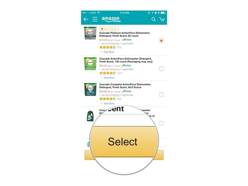 a series of screenshots showing the aforementioned steps for setting up Amazon Dash buttons