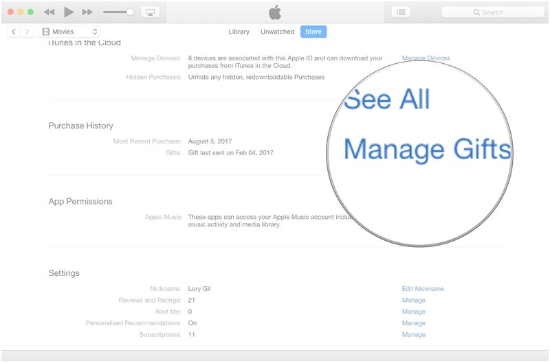 How to manage your iTunes account on Mac   iMore