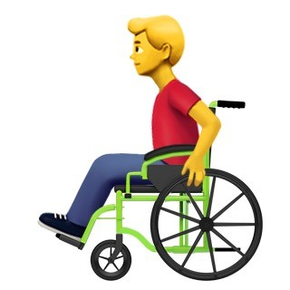 male person in manual wheelchair emoji