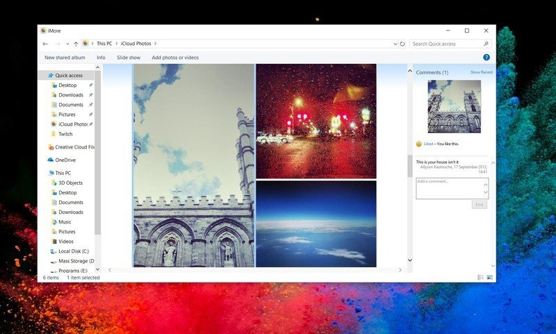 View Shared Photo Albums on PC by showing steps: Open iCloud Photos