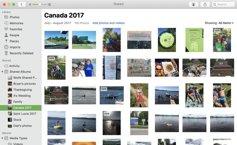 photos for Mac on macOS Mojave