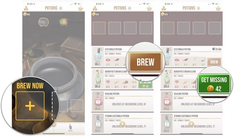 Tap brewing slot, tap brew, tap get missing