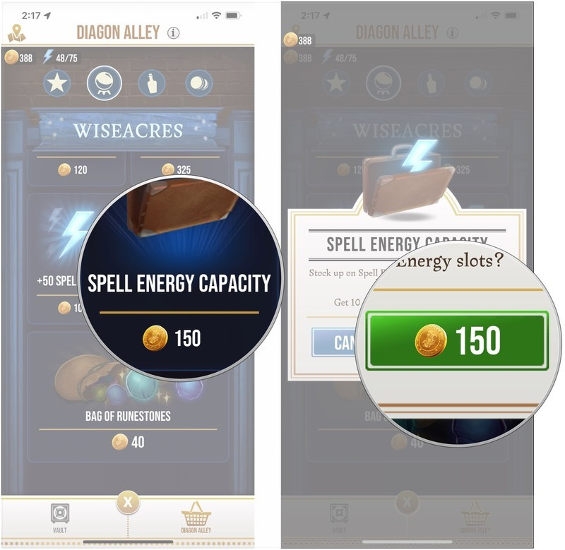 Fastest and cheapest ways to get Spell Energy Harry Potter: Wizards