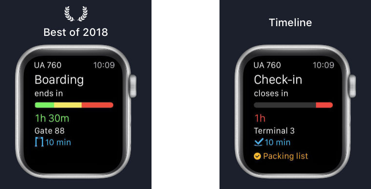 App in the Air Apple Watch