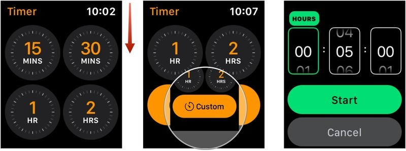 Apple Watch timer custom