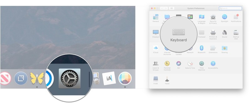 Open System Preferences, click Keyboard