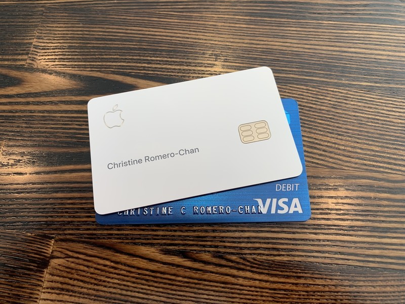 Apple Card and debit card